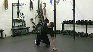 kneeling t-spine rotation - step 1