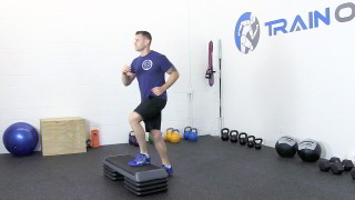 Picture of a male doing Low Step-Ups Exercise