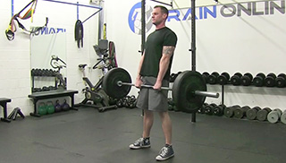 medium stance deadlift - step 1