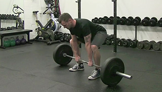 medium stance deadlift - step 2