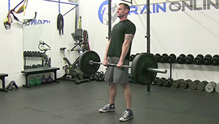 medium stance deadlift - step 3