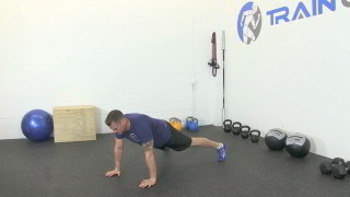 push-up plank shoulder touch - step 1