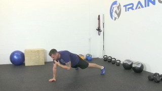 push-up plank shoulder touch - step 2