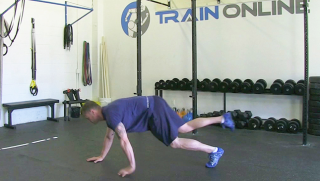 single leg push-up - step 2