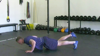 single leg push-up - step 3