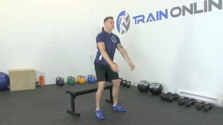 sit squat on bench - step 3