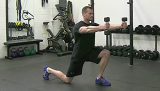 Skater Lunges exercise for men