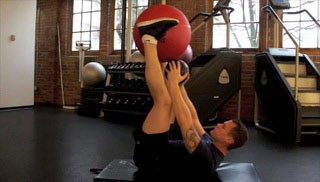 Picture of a male doing Abdominal Crunch-Up Exercise
