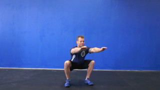 Picture of a male doing Air Squats Exercise