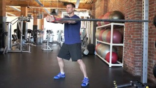 Picture of a male doing Anti-Rotation Band Chest Press Exercise