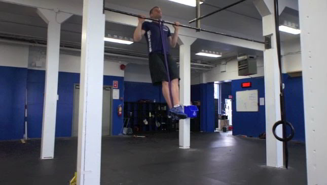 assisted band pull-ups - step 2