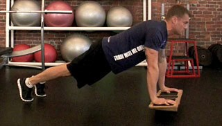 balance board push up - step 3