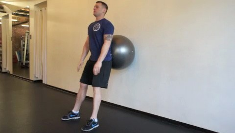 ball squats - step 3