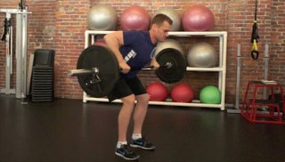 barbell bent over row - step 2