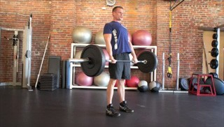 Picture of a male doing Barbell Deadlift Exercise
