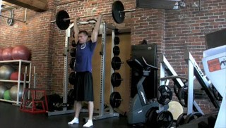 Picture of a male doing Barbell Military Press Exercise