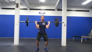 Picture of a male doing Barbell Push Press Exercise