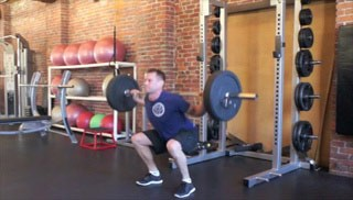 barbell squats - step 2