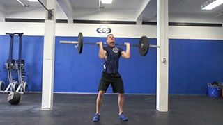barbell thruster - step 1