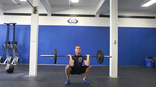 barbell thruster - step 2