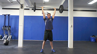 barbell thruster - step 3