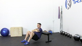 bench hip raise - step 1