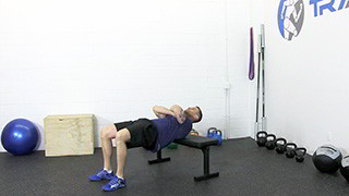 bench hip raise - step 2