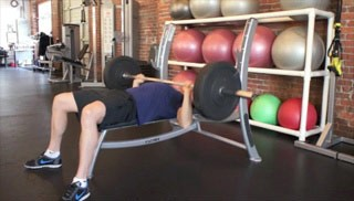 Picture of a male doing Bench Press Exercise
