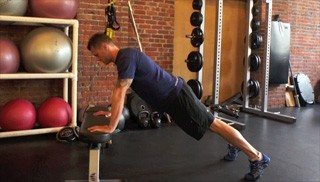 bench push-ups - step 1