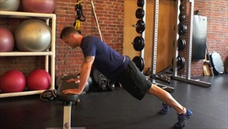 bench push-ups - step 3