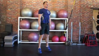 body weight drop squats - step 1