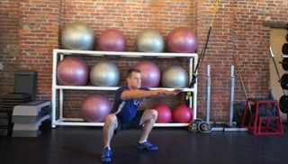 body weight drop squats - step 2