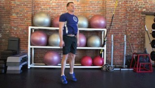 body weight drop squats - step 3