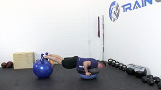 bosu ball push-up - step 2