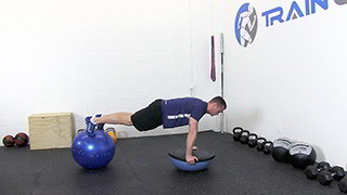 bosu ball push-up - step 3