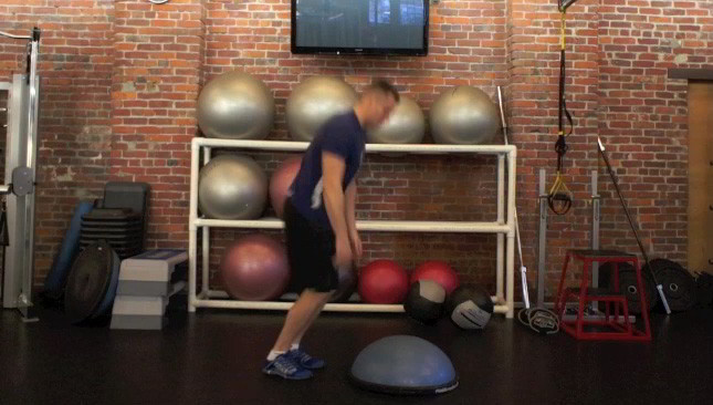 bosu burpee jumps - step 1