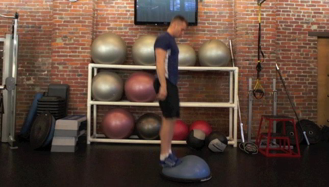 bosu burpee jumps - step 3
