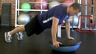 bosu push-up - step 1
