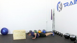 burpee box jumps - step 1