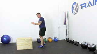 burpee box jumps - step 2