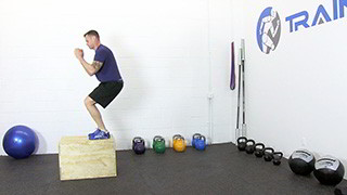 burpee box jumps - step 3
