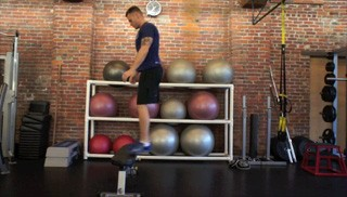 burpee jump up on bench - step 2