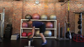 burpee jump up on bench - step 3
