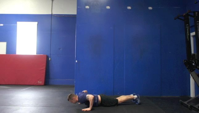 Picture of a male doing Burpees Exercise