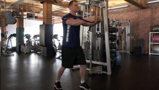 Picture of a male doing Cable Chest Fly Exercise