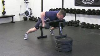 chest supported dumbbell row - step 2