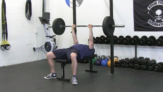 close grip bench press - step 1