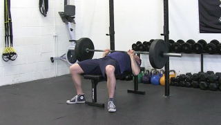 close grip bench press - step 2