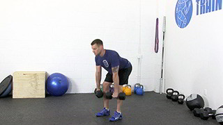 deadlift dumbbell row - step 2