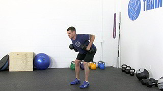 deadlift dumbbell row - step 3